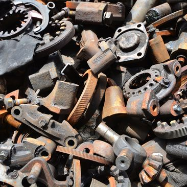 view of scrap metal
